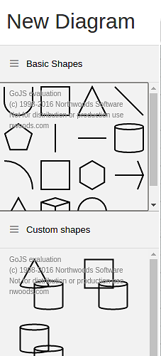 Two node templates, one for the basic shapes and other for